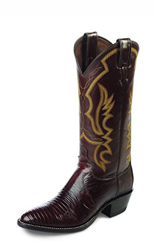 Justin Western Boots Mens Iguana Lizard Leather 9.5 EE Chocolate 8308