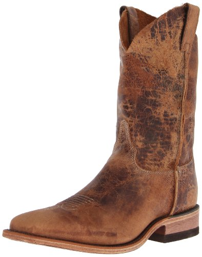 Justin Boots Men's U.S.A. Bent Rail Collection 11″ Boot Wide Square Double Stitch Toe Leather Outsole,Tan Road,11.5 D US