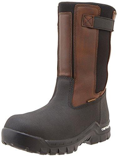 Carhartt Men's Rugged Flex Mud Wellington Work Boot, Brown Oil Tan/Black Coated, 10.5 M US