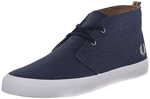 Fred Perry Men's Vernon Mid-Top Waxed Canvas Fashion Sneaker