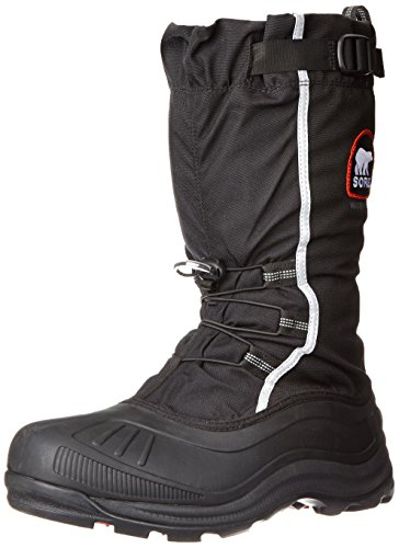 Sorel Men's Alpha Pac Extreme Snow Boot,Black/Red Quartz,9 M US