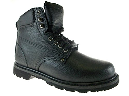 Eagle Men's 623 Full Leather Heavy Duty Safty Work Boots Oil Resistant Sole, Black, 12