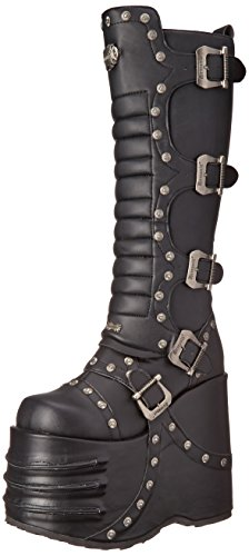 Pleaser Men's Stack-317 Boot,Black Polyurethane,12 M US