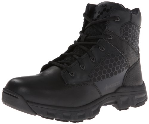 Bates Men's Code 6 Black 6 Inch Leather Nylon Zip Uniform Boot, Black, 9 M US