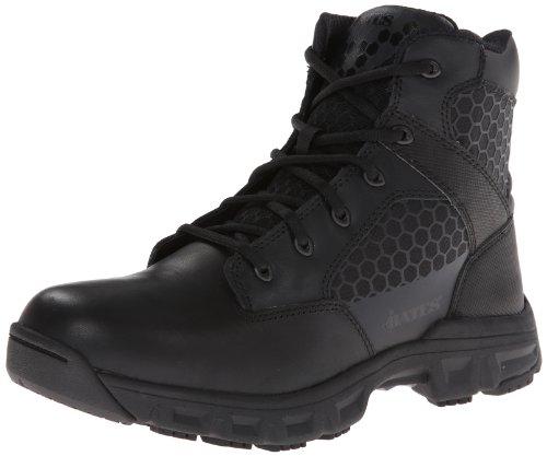 Bates Men's Code 6 Black 6 Inch Leather Nylon Zip Uniform Boot, Black, 13 M US