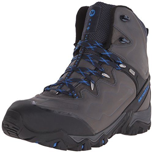 Merrell Men's Polarand 8 Waterproof Winter Hiking Boot, Carbon, 8.5 M US