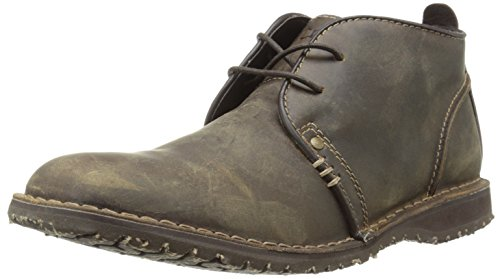 Crevo Men's Longport Chukka Boot, Dark Brown Crazy Horse Leather, 9 M US