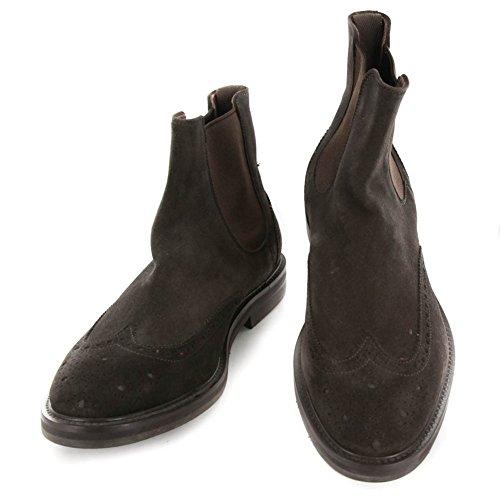 New Finamore Napoli Dark Brown Suede Boots 7/6