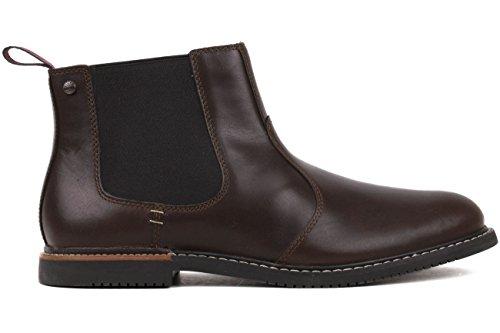 Timberland Men's EK Brook Park Chelsea Boot,Red/Brown Smooth,7 M US