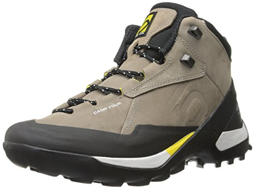 Five Ten Men's Camp Four Mid Hiking Boot, Brown/Yellow, 9 M US