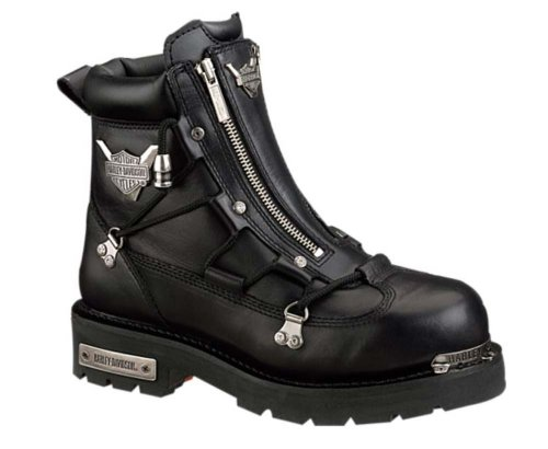 Harley-Davidson Men's Brake Light Riding Motorcycle Boot, Black, 8.5W