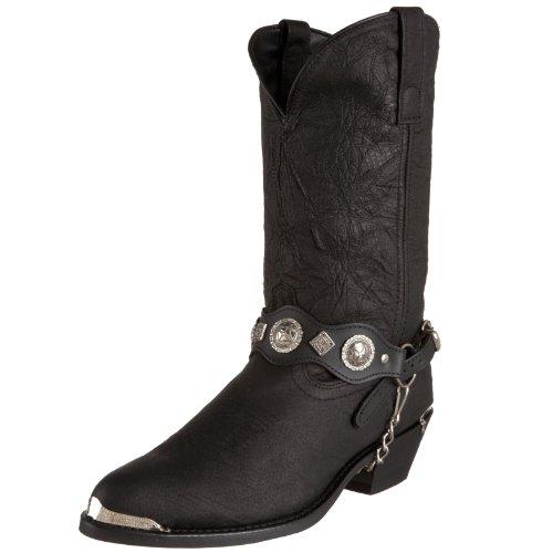 Dingo Men's Concho Strap 12″ Boot,Black,10 D(M) US