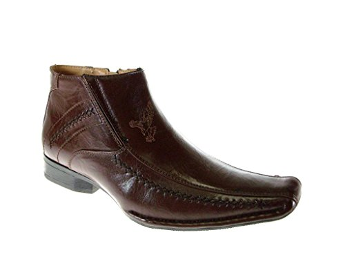 BB&W Men's M1786 Classic Ankle High Dress Boots, Brown, 9.5