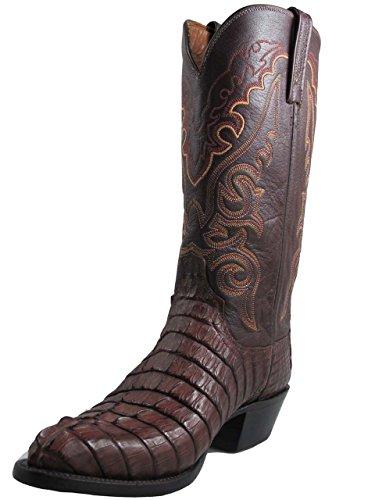Men's Lucchese Cowboy Boots Caiman Brown HBC 2000 T3187.T4, Size 8.5 D