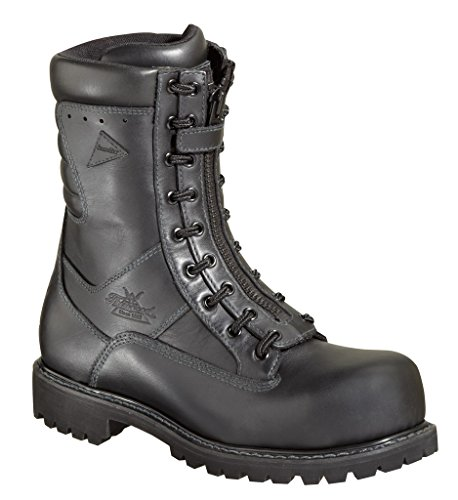 Thorogood Men's 8″ Waterproof Work Boots,Black,9 W