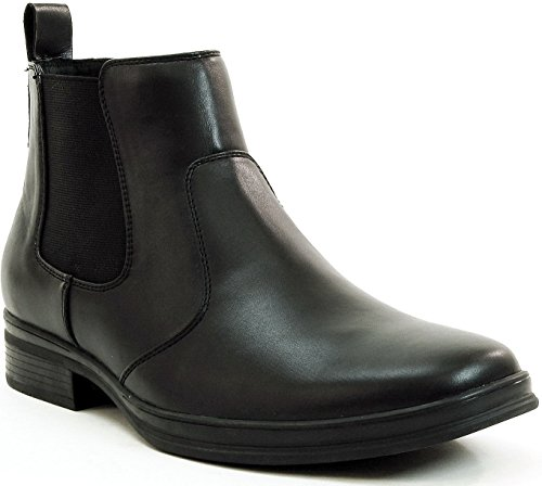 Alpine Swiss Mens Chelsea Boots Suede Lined Pull On Ankle Shoes Black 9 M US