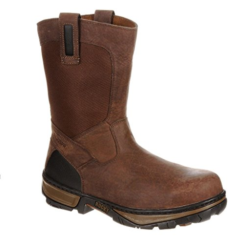 Rocky 10″ Forge Steel Toe Waterproof Wellington Mens Boots Medium Brown RK024