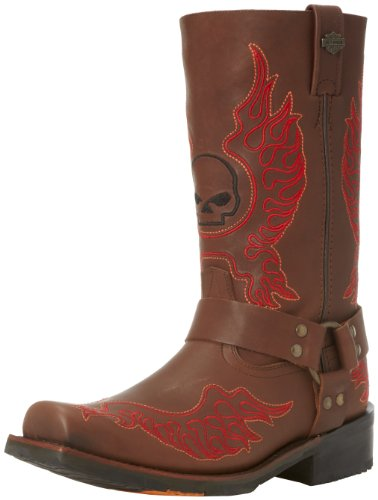 Harley-Davidson Men's Slayton Motorcycle Boot,Brown,8.5 M US