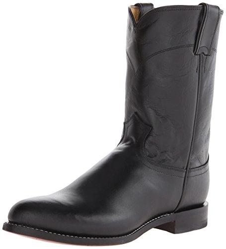 Justin Boots Men's Western Roper Boot,Black Kipskin,14 EE US