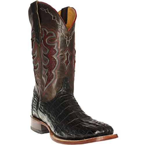 Cinch Western Boots Mens Hornback Caiman Tail 11.5 D Black CFM563