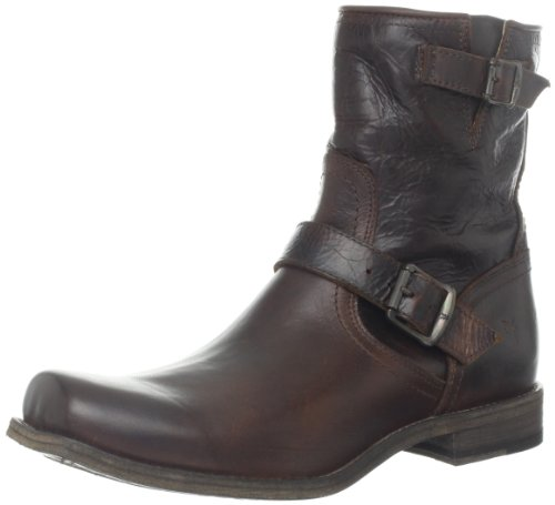 FRYE Men's Smith Engineer Boot Dark Brown 13 M US
