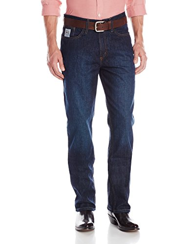 Cinch Men's Silver Label Mid Rise Relaxed Fit Boot Cut Jean, Dark Stone Wash, 26×32