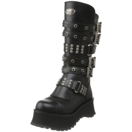 Pleaser Men's Ravage-302 Boot,Black Leather,12 M US