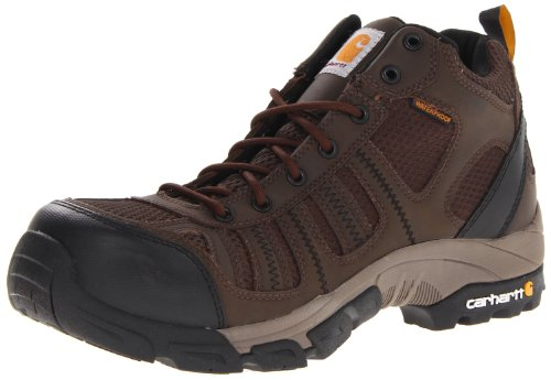 Carhartt Men's CMH4370 Composite Toe Hikier Boot,Apache Brown Leather/Brown Nylon,9.5 W US