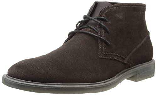 Calvin Klein Men's Ulysses Suede Boot,Dark Brown,9.5 M US