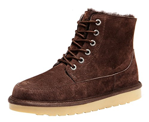 Rock Me Men's Flak II Thick Fur Winter High Top Snow Boot(8 D(M) US,chocolate)