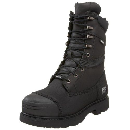 Timberland PRO Men's 53531 Gravel Pit 10″ Steel Toe Waterproof Boot,Black,8.5 W
