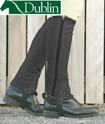 Dublin Easy Care Half Chaps Large Tall Brown