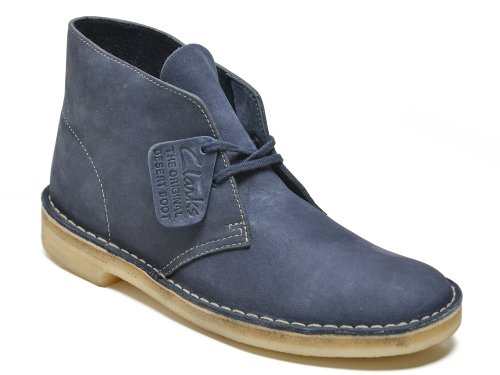 Clarks Men's Desert Boot Tan Navy Nubuck 7