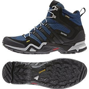 fe1f7cb5c148f adidas Outdoor Men s Terrex Fast X Mid GTX  Blue Black Clear Onix Boot 13 D  (M)
