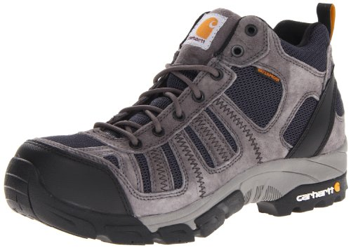 Carhartt Men's CMH4375 Composite Toe Hiking Boot,Grey Suede/Navy Nylon,9.5 M US