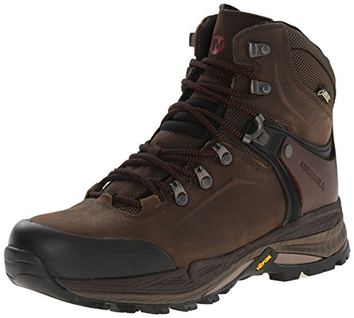 Merrell Men's Crestbound Gore-Tex Mid Hiking Boot, Clay, 10 M US