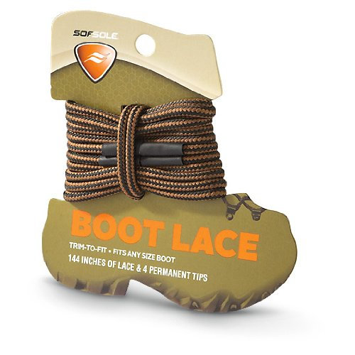 Softsole Trim-to-fit Boot Laces Brown / Waxy