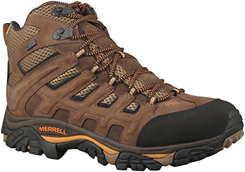 Merrell Men's Moab Peak Mid Ventilator Waterproof Hiking Boot,Black Slate,11 M US