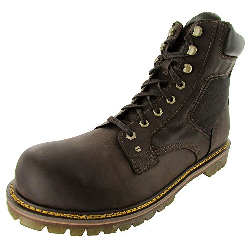 Dr. Martens Men's Joel 8-Eye Motorcycle Boot, Brown/Black, 12 M UK/13 M US