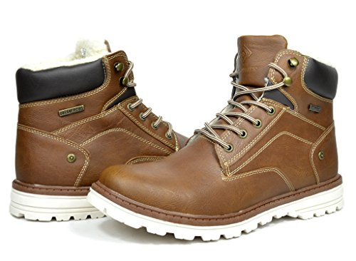 CYBER MONDAY SALES,DREAM PAIRS CAMPER Men's Winter High Top Insulated Fur Lining Laced Up Casual Boots Shoes