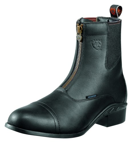 Ariat Men's Heritage Waterproof Paddock Zip-Up Boot Round Toe Black 10.5 D(M) US