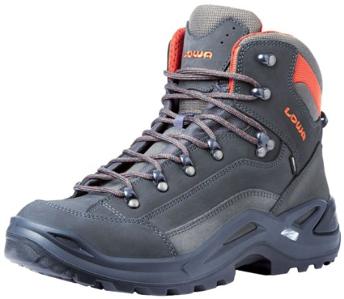 Lowa Men's Renegade GTX Mid Hiking Boot,Grey/Rust,11 M US