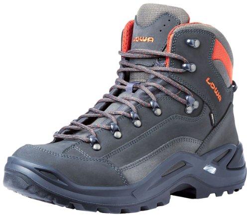 Lowa Men's Renegade GTX Mid Hiking Boot,Grey/Rust,11 M US