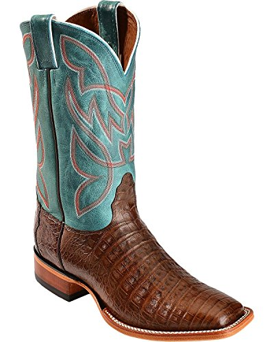 Nocona Men's Caiman Cowboy Boot Square Toe Chocolate US