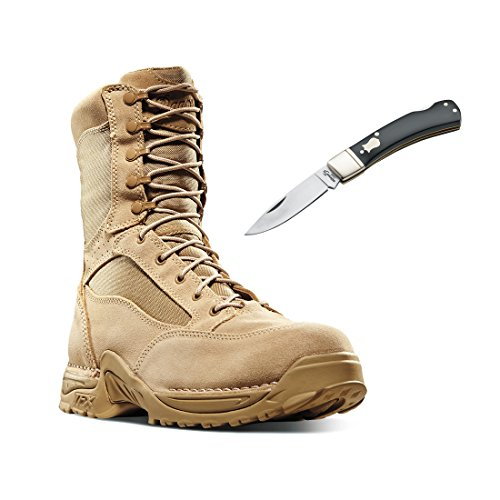 Danner 26016 Desert TFX Rough-Out GTX Mens 8″ Tactical Military Boot Tan – With Free Pocket Knife (12)