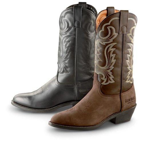 Guide Gear Men's 12 Inch Cowboy Boots, TAN, 10.5M
