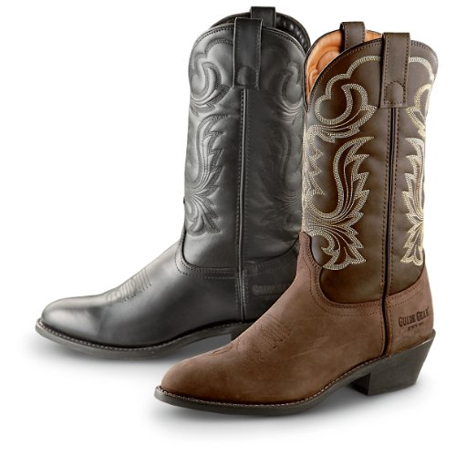 Guide Gear Men's 12 Inch Cowboy Boots, TAN, 11M