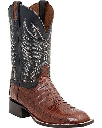 Lucchese Men's Handcrafted 1883 Logan Caiman Belly Cowboy Boot Leather Sole Sienna US