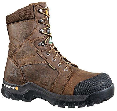Carhartt Men's 8″ Rugged Flex Waterproof Insulated Composite Toe Work Boot Brown US