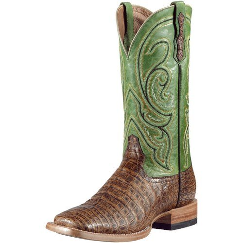 Ariat Men's Stillwater Caiman Belly Cowboy Boot Square Toe Pecan US